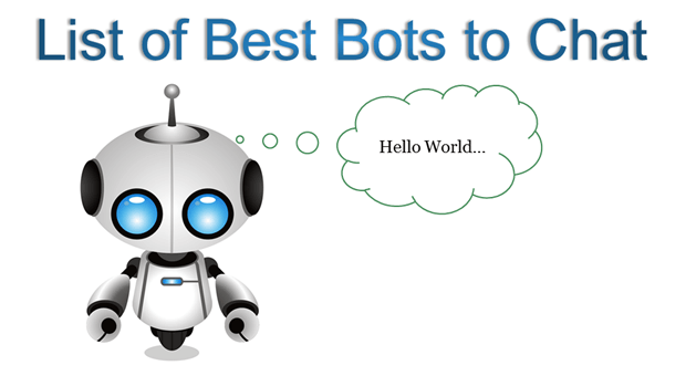 List of Best Chatbots to Converse with