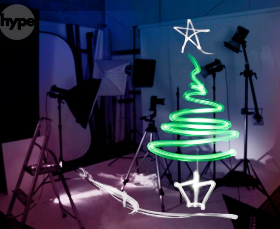 Light Painting Photography christmis tree