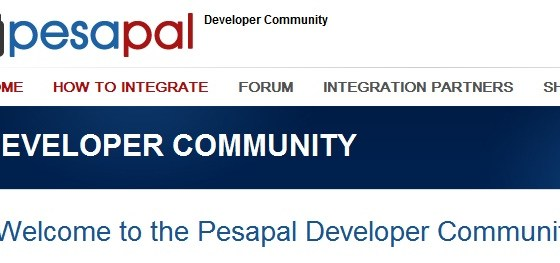 Pesapal Developer community website