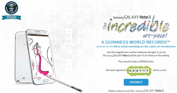 Galaxy Note II World Record