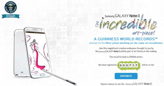 Galaxy Note II World Record