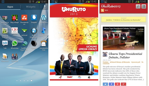 Uhuruto Android App