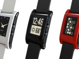 Pebble: 1.26-inch Kickstarter-funded, has open source SDK with support for Ubuntu development platform; displays alerts from Android/iOS devices connected via Bluetooth