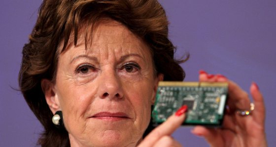 European commissioner for competion, Dutch,  Neelie Kroes