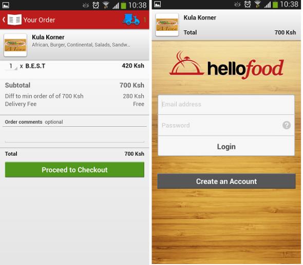 HelloFood Add to cart