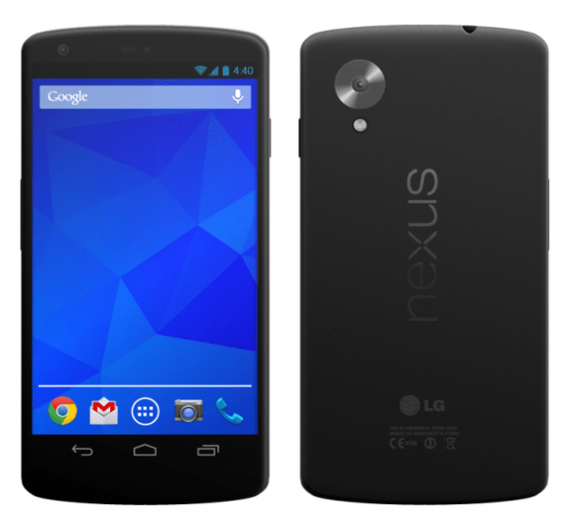 A render of the LG Nexus 5 from a Reddit user