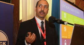 Microsoft's Hesham Ali giving a presentation at the Comesa Cybercrime Summit