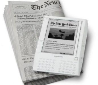 reading newspapers on Kindle