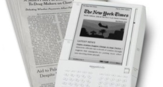reading newspapers on Kindle