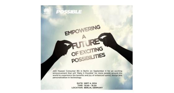 Huawei IFA press event invite 2014