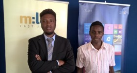Windows Developer Trainee Graduates - Brian Kanyiri (l) and Clinton Ingalia (r)