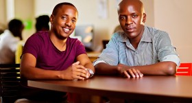 L - R  Trevor Kimenye and Charles Gichuki both  Co-Founders of Ongair