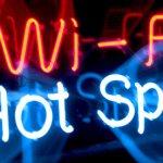 Wi-Fi hotspot neon sign