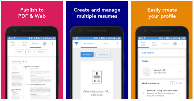 best resume maker for android