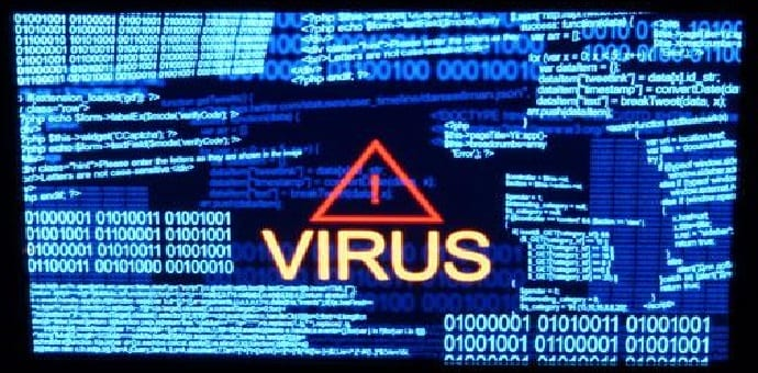 This is what computer viruses from the \u002780s and \u002790s looked like - computer virus