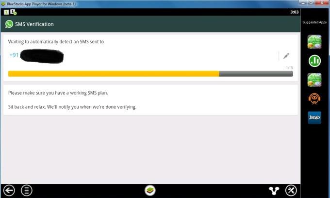 Configuring Whatsapp 4