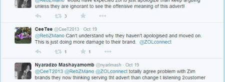 ZOL Advert Twitterstorm