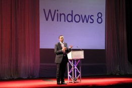 ICTSAZ, President, Harold Muvuti, presenting at the Windows 8 Launch