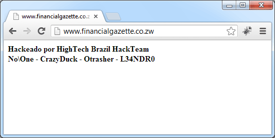 Financial Gazette website hacking