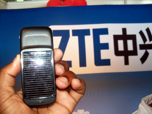 solar powered mobile phone