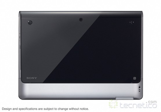 Parte trasera de la tablet S1 (foto: Sony)