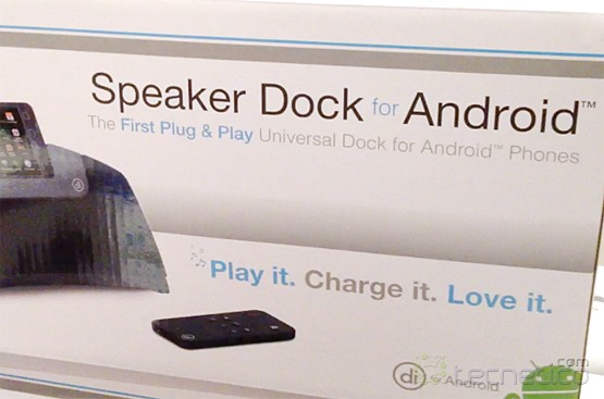 Empaque del Speaker Dock for Android