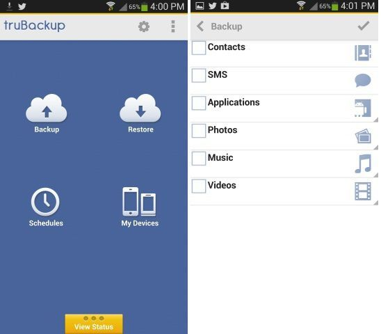 Trubackup-Android-Application