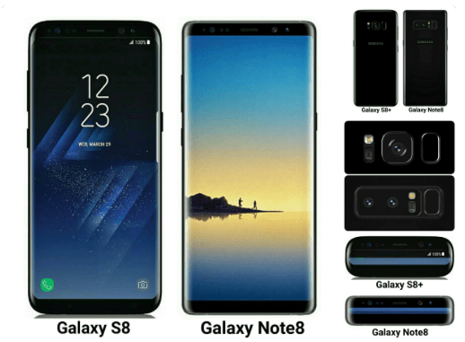 Samsung Galaxy S8 vs Galaxy Note 8