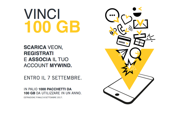 Veon by Wind, vinci 100 GB