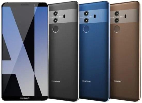 Huawei, ecco il Mate 10 Pro