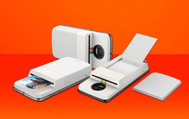 Moto Z si trasforma in Polaroid con il Moto Mod Insta-Share Printer