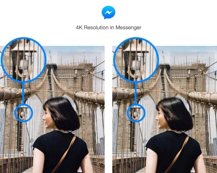 Facebook Messenger permette ora di inviare le foto in 4K