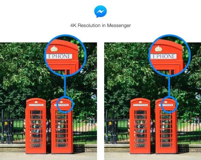 Facebook Messenger: possibilità di inviare foto in alta risoluzione