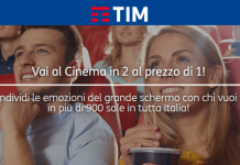 Tim offre un voucher cinema 2x1