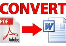 Convertire un PDF in un file Word