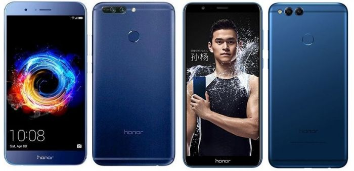 Honor 8 Pro (Sinistra) Honor 7X (Destra)