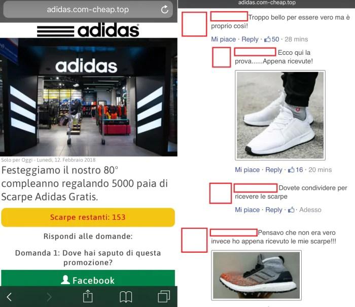 adidas scarpe gratis 80 anni