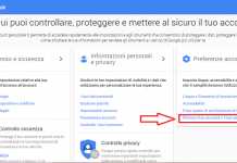 Eliminare un account Google