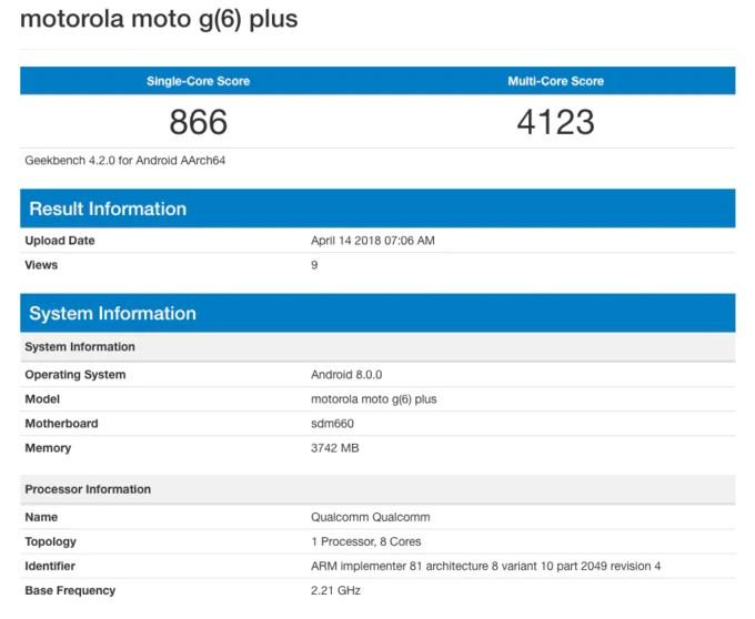 Moto G6 Plus potrebbe essere più potente del previsto