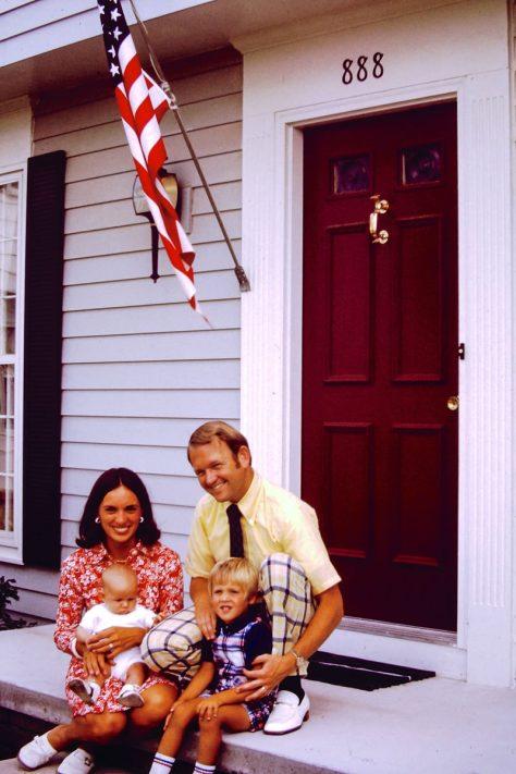 1974: Jan, me, Bill, Doug