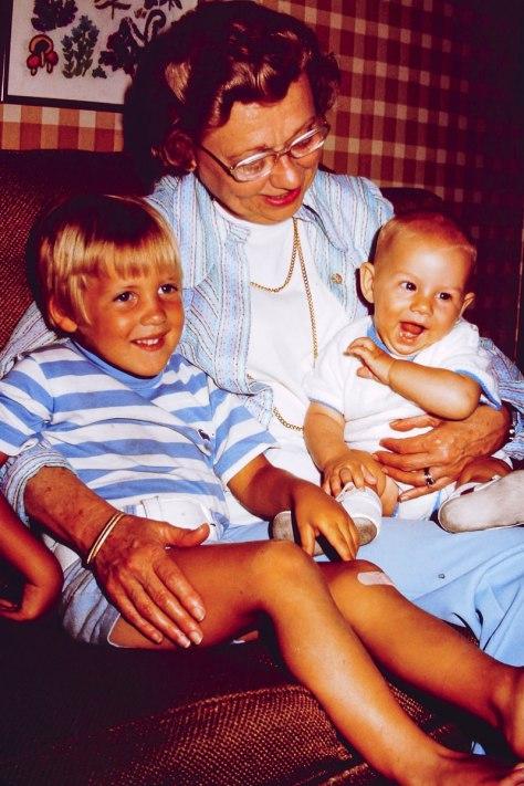 1974: Doug, Fran, me