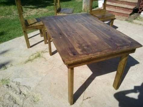 How To Build An Affordable Rustic Wooden Dining Table TeeDiddlyDee