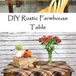 DIY Rustic Farmhouse Table