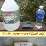 DIY weathered-looking wood stain from steel wool!