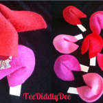 DIY easy felt fortune cookies for Valentine's Day