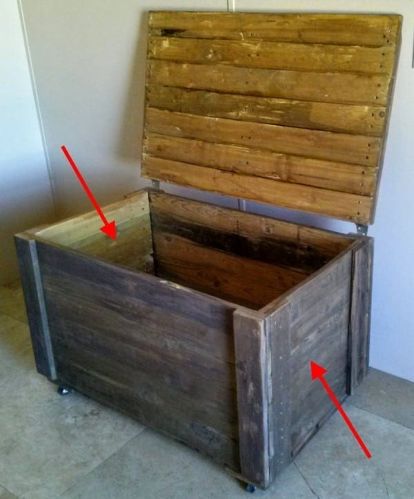 I built the sides first & DIY Rustic Pallet Wood Storage Chest - TeeDiddlyDee