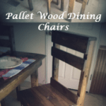 Cute DIY Rustic Pallet Wood Dining Chairs