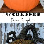 DIY Corpsed Foam Pumpkin