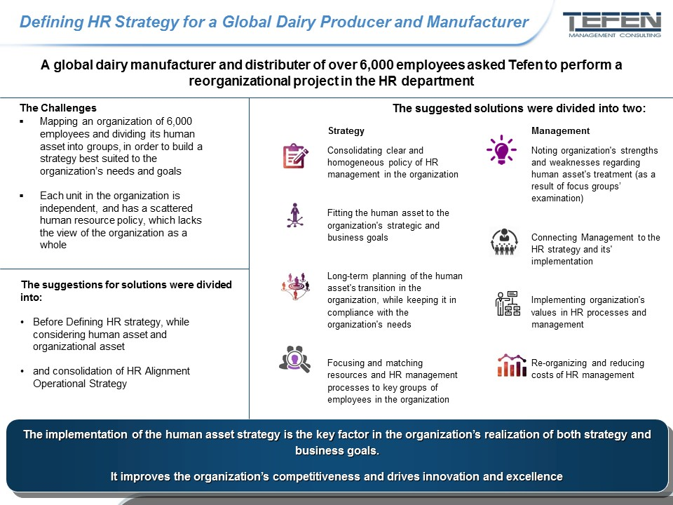 Defining an HR Strategy for a Global Dairy Producer and Manufacturer