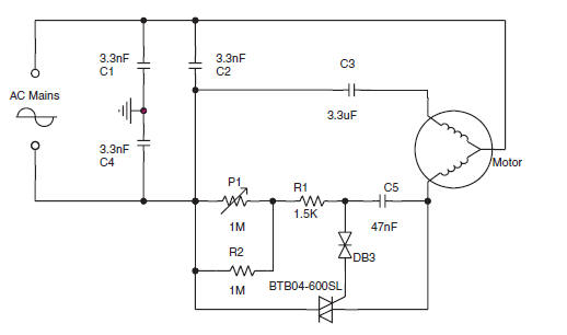 ac motor speed control circuit